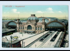 W9U44/ Dresden Hauptbahnhof AK ca.1910