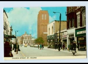 W9V25/ St. Helenes Church Street Großbritannien AK 1968