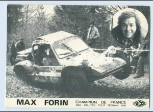 W9V10/ Ralley Max Forin Champion de France 1980 Yacco