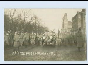 U2247/ Prijezd Pres. Masaryka Tschechien Foto AK