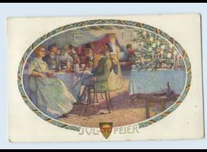 W9W38/ Deutscher Schulverein AK Nr. 541 Julfeier Studenten 1913