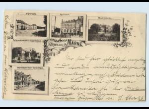 F483/ Gruß aus Marne in Holstein 1896 AK