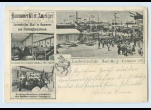 F373/ Hannover Landwirtschaftlich Ausstellung 1903 AK Zeitung Setzerei