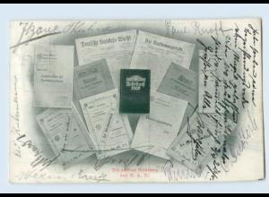 "F372/ D.H.V. ""Die geistige Nahrung"" AK 1907"