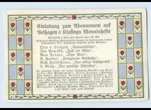F361/ Velhagen & Klasing Monatshefte Einladung zum Abonnement ca.1912