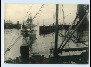 X1G85/ Sylt Fischer Fischerboot Foto AK ca.1955