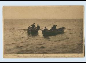 G186/ Fischer am Spill Fischen AK ca.1905