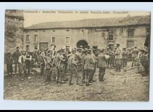 F819/ Platzmusik Dt. Infanterie in Lothringen 1914 AK 1. Weltkrieg