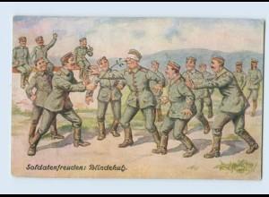 F828/ A. Hofmann AK Soldatenfreuden: Blindekuh 1. Weltkrieg AK 1917
