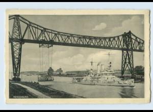 G346/ Rendsburg Hochbrücke Schwebefähre Fähre AK Marine Schiff 1936