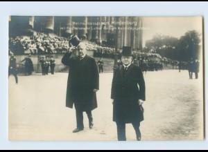 G708/ von Hindenburg Abschreiten der Ehrenkompagnie Foto AK ca.1914