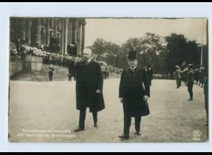 G707/ von Hindenburg und Reichskanzler Luther Foto AK ca.1914