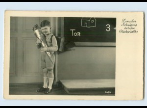 X1A85/ Schule Einschulung Schultüte Foto AK ca.1935