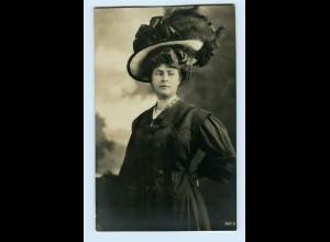 T1210/ Mode Hutmode junge Frau mit Hut Foto AK ca.1912