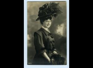 T1219/ Mode junge Frau mit Hut schöne Foto AK ca.1910