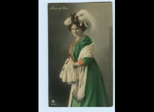 """T1209/ Mode Frau mit Kopfschmuck """"Liane de Vries"""" Foto AK 1909"""