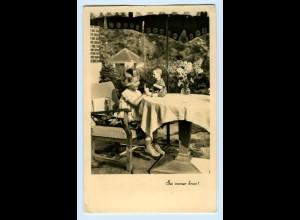 T1199/ Mädchen mit Puppe schöne Foto AK 1942