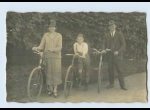 H265/ Fahrrad schöne Privat Foto AK ca.1930
