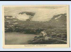 H220/ Djupvandshytten med Blaabraen Norwegen AK ca.1905