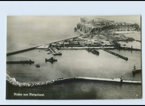 H560/ Helgoland Hafen Fliegeraufnahme Foto AK