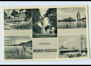 H713/ Bremen-Vegesack AK ca.1955
