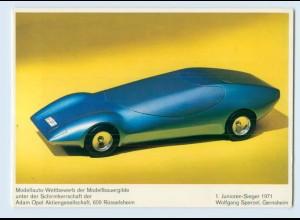 X1D12/ Modelauto-Wettbewerb AK Schirmherrschaft Adam Opel AG 1971
