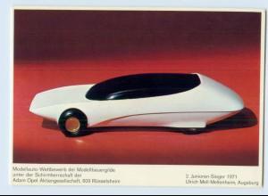 X1D13/ Modelauto-Wettbewerb AK Schirmherrschaft Adam Opel AG 1971