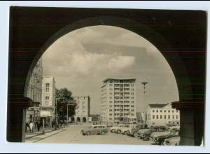 H993/ Rostock Ernst-Thälmann Platz Bild und Heimat AK 1966
