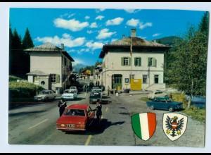 X1E04/ Winnebach Grenze Österreich Italien Dolomiten AK ca.1970