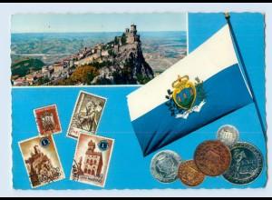 X1D49/ San Marino Briefmarken Münzen AK 1967