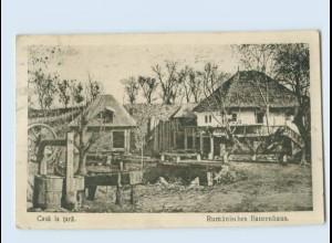 X1F03/ Casa la Tara - Rumänisches Bauernhaus Rumänien AK ca.1915