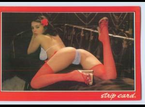 X1F16/ Erotik Pin Up AK zum befeuchten Strip Card