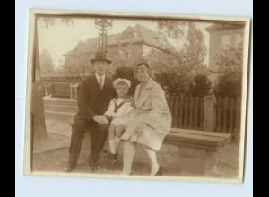 X1F51/ Eltern mit Kind in Matrosenuniform Privat Foto ca.1920