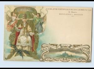 N2375/ Papst Leonis P.P. XIII Jubiläum Litho AK Vatikan ca.1905