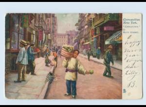Y934/ Cosmopolitan New York Chinatown in Mott Street AK USA 1904