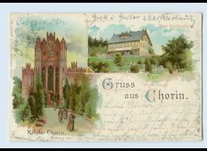 N2783-162./ Gruß aus Chorin Kloster Litho AK 1899