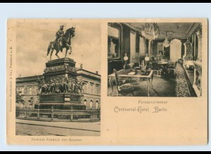 Y1241/ Berlin Continental-Hotel Fürstenzimmer AK ca.1900