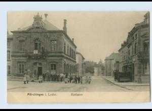 N1909/ Mörchingen Morhange Lothringen Lorraine Frankreich France Rathaus AK 1917