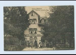 N1958-3510/ Hann. Münden Pension Hotel Andree's Berg AK ca. 1910