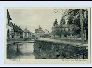 N2766/ Wörth a/S. Schulgebäude AK 1942