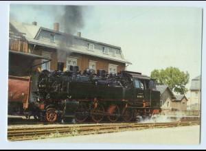 X1G64/ Güterzug-Tender-Lokomotive 86 1501-5 in Crottendorf AK Bild und Heimat