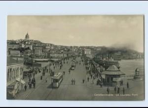 K083/ Constantinople Türkei Straßenbahn Foto AK ca.1920