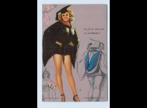 I1961/ Pin Up Erotik Mutoscope Card 1948 Studentin