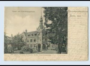 K018-162./ Britz Kreiskrankenhaus AK 1906