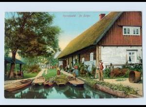 K259-030./ Spreewald In Leipe AK 1911