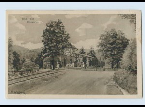 K418-998./ Bad Thal Ruhla Bahnhof 1920 AK