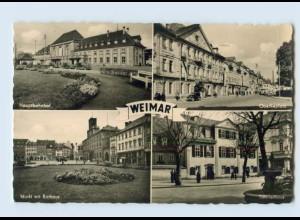 K452-994/ Weimar AK mit Bahnhof 1957