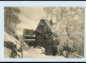 X1J94/ Wartburg Gutshof Eisenach Eingang im Winter AK ca.1912