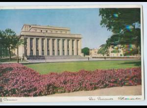 K605-068./ Dessau-Roßlau Dessau Theater AK ca.1940