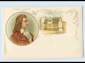 X1K01/ Friedrich Schiller schöne Litho AK ca.1900